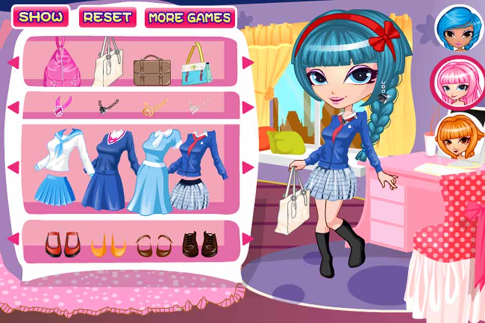 dress up games girls school