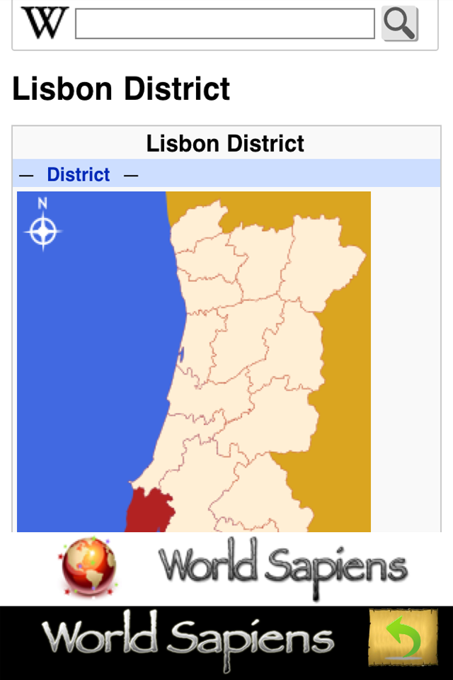 Screenshot Autonomous Regions and Districts of Portugal – Free – World Sapiens